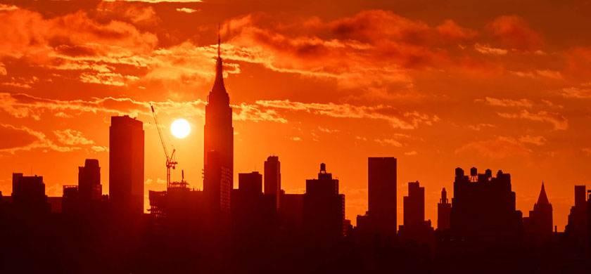 Empire State durante el amanecer